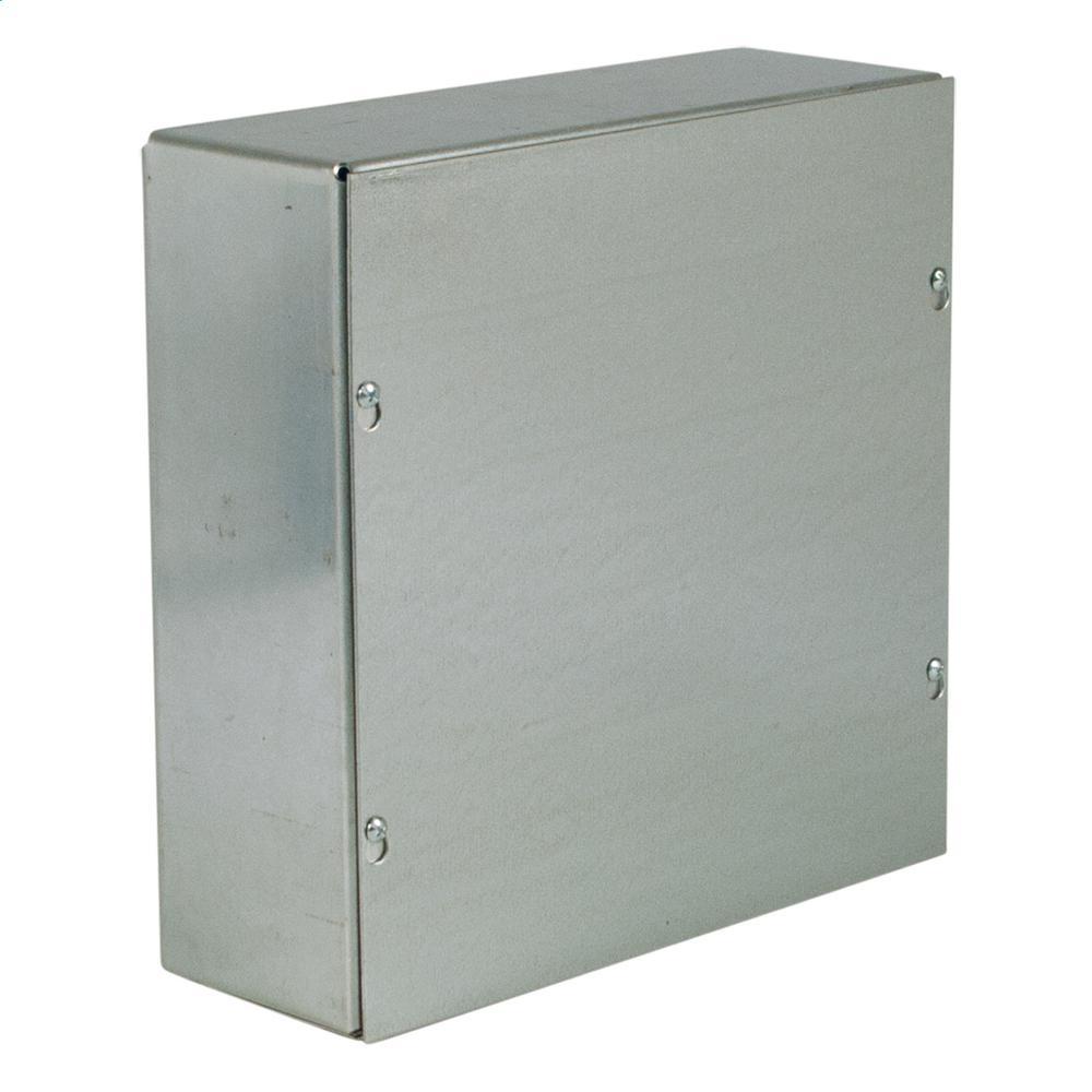 NEMA 1 Screw Cover Wall-Mount Galvanized No Knockouts 12X12X6