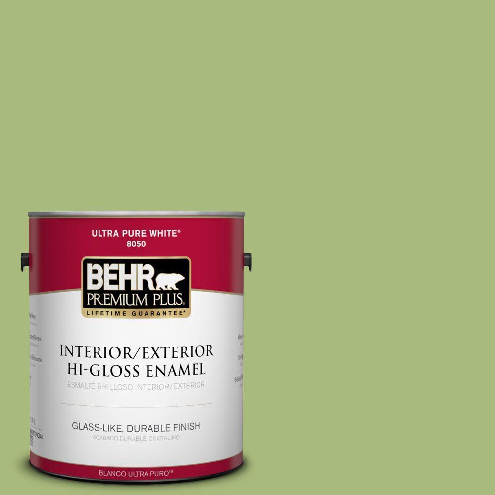 BEHR Premium Plus 1-gal. #P370-5 Lazy Caterpillar Hi-Gloss Enamel Interior/Exterior Paint