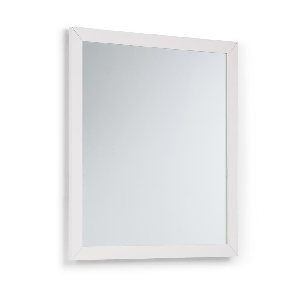 Cape Cod 32 in. x 34 in. Bath Vanity Decor Mirror in Off White