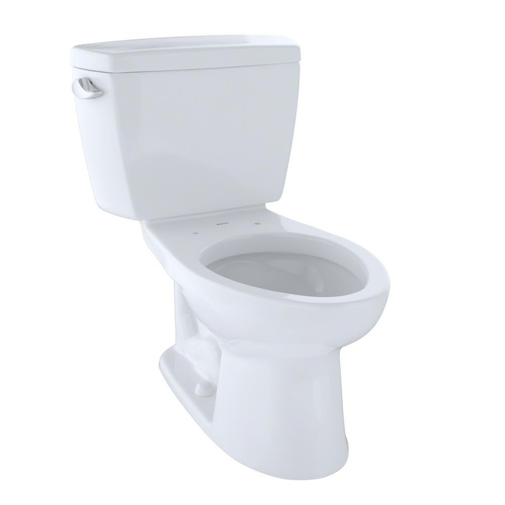 TOTO Drake 2-Piece 1.6 GPF Single Flush Elongated Toilet in Cotton ...