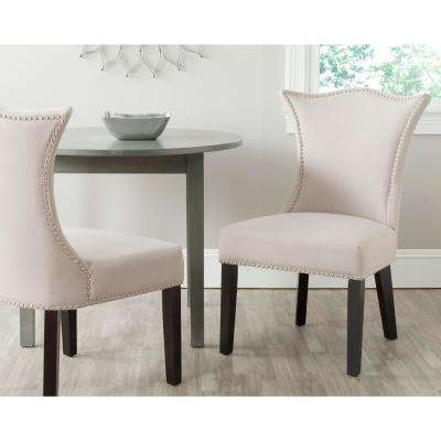 Ciara Taupe/Espresso Linen Side Chair (Set of 2)