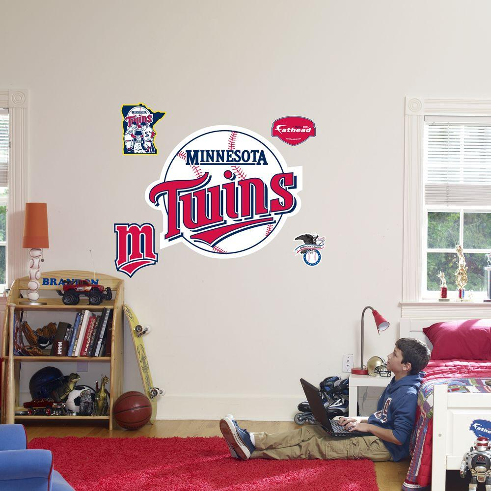 Fathead 40 in. x 34 in. Minnesota Twins Logo Wall Decal
