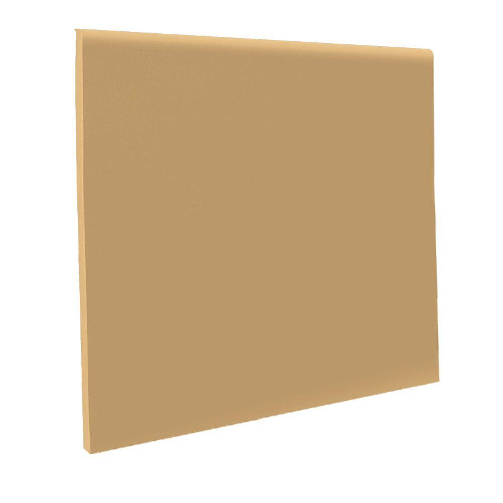 ROPPE No Toe Flax 4 in. x 1/8 in. x 48 in. Vinyl Cove Base (30 pieces / carton)-DISCONTINUED