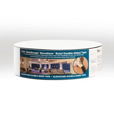 RainEscape Deck Drainage System 2 in. x 50 ft. Double Side Elevations Butyl Tape Roll