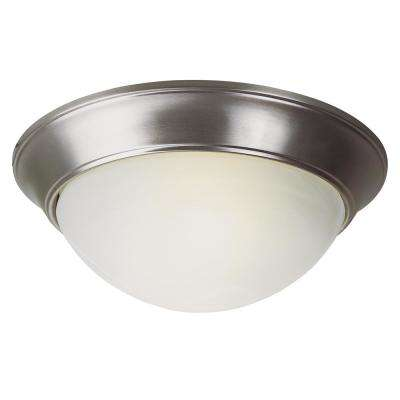 Athena 31-Watt Brushed Nickel Integrated LED Flushmount