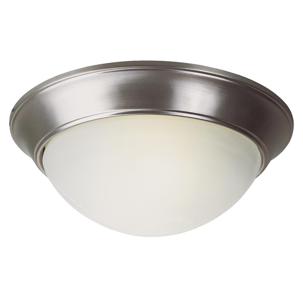 Athena 31-Watt Brushed Nickel Integrated LED Flushmount
