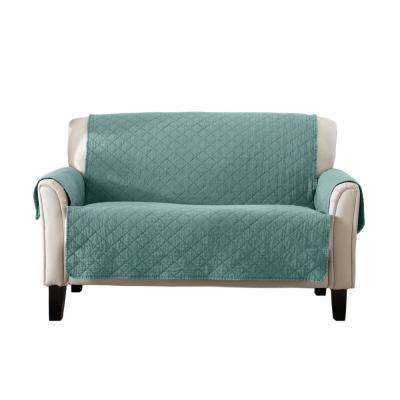 Laurina Collection Aqua Stonewashed Reversible Loveseat Furniture Protector
