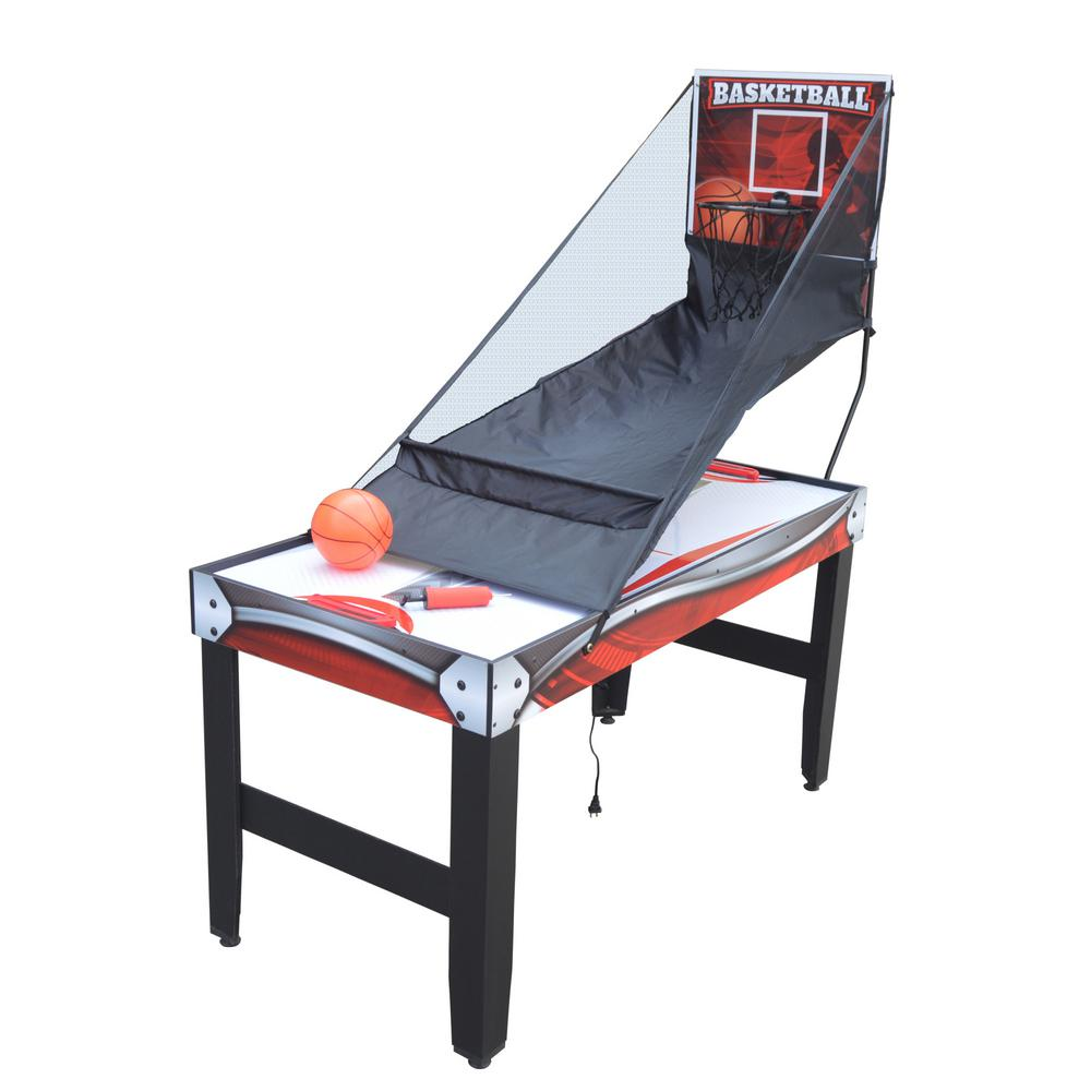 54 in. Scout 4-in-1 Multi-Game Table with Basketball, Air Hockey, Table