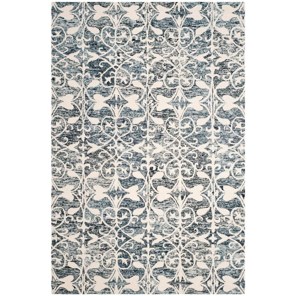 Chatham Charcoal/Ivory 6 ft. x 9 ft. Area Rug