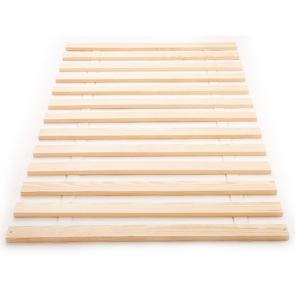 Titan 71.875 in. W x 82 in. L x 0.75 in. H Heavy-Duty Solid Wood Cal King Bed Support Slats