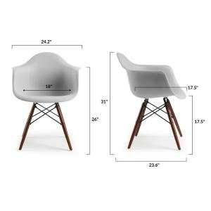 Amazing Poly And Bark Vortex Arm Chair Walnut Leg In Harbor Grey Hd Ncnpc Chair Design For Home Ncnpcorg
