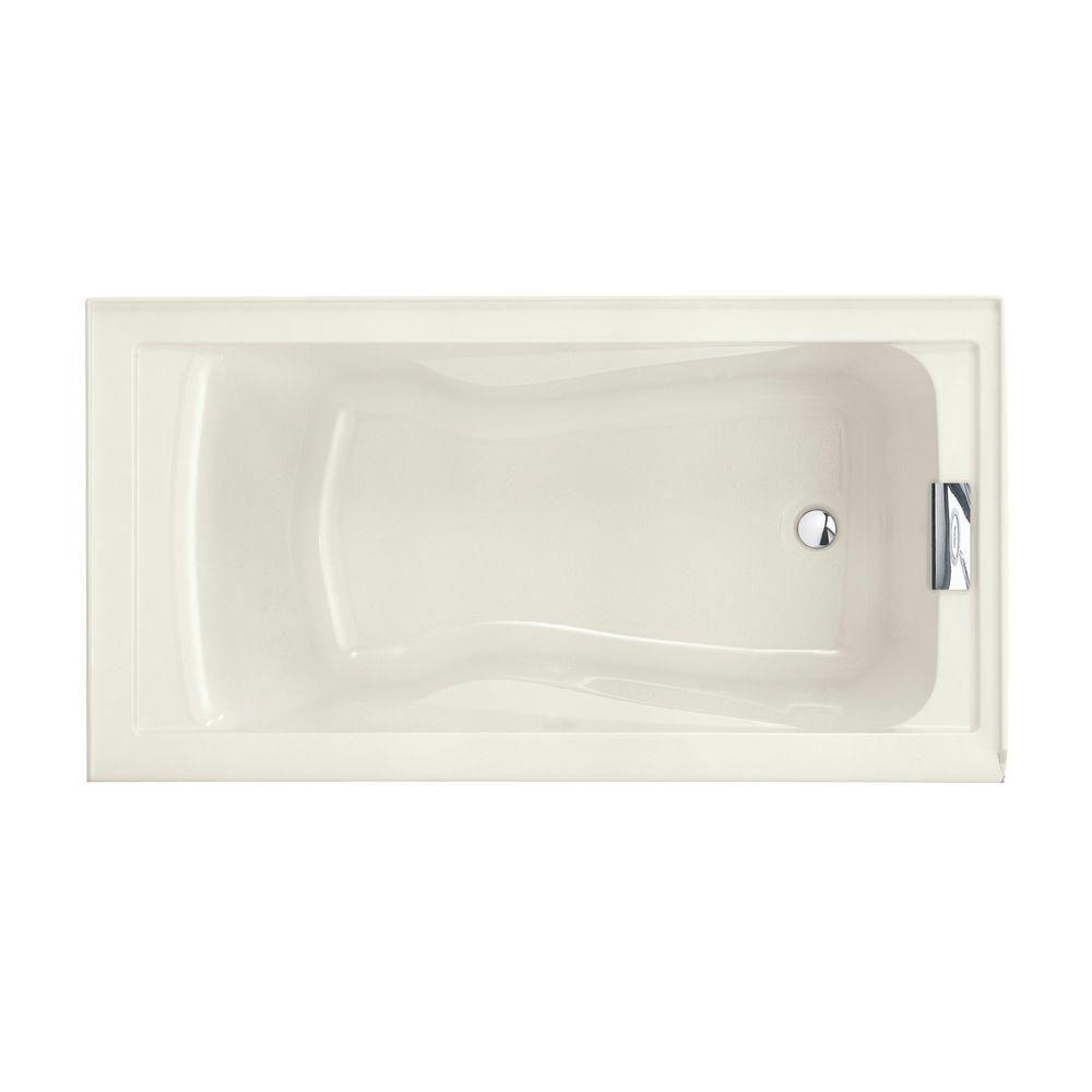 American Standard Evolution 5 ft. Reversible Drain Bathtub in Linen