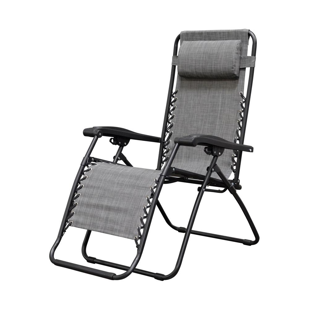 caravan sports infinity grey metal zero gravity patio