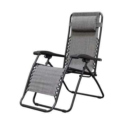 Infinity Grey Metal Zero Gravity Patio Chair