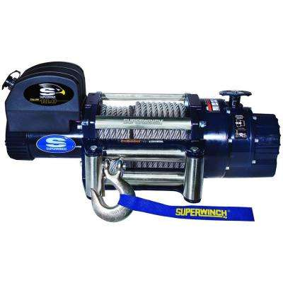 Talon 18.0 12-Volt DC Industrial Winch with 4-Way Roller Fairlead and 15 ft. Remote