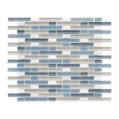 Cyclove 10.875 in. x 13.25 in. x 8 mm Glass/Stone Mosaic Wall Tile