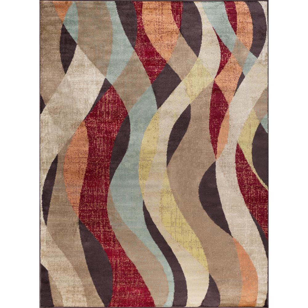 Deco Brown 5 ft. 3 in. x 7 ft. 3 in.
