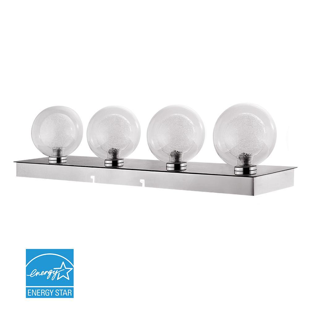 Euri Lighting 23 in. Silver LED Vanity Light Bar