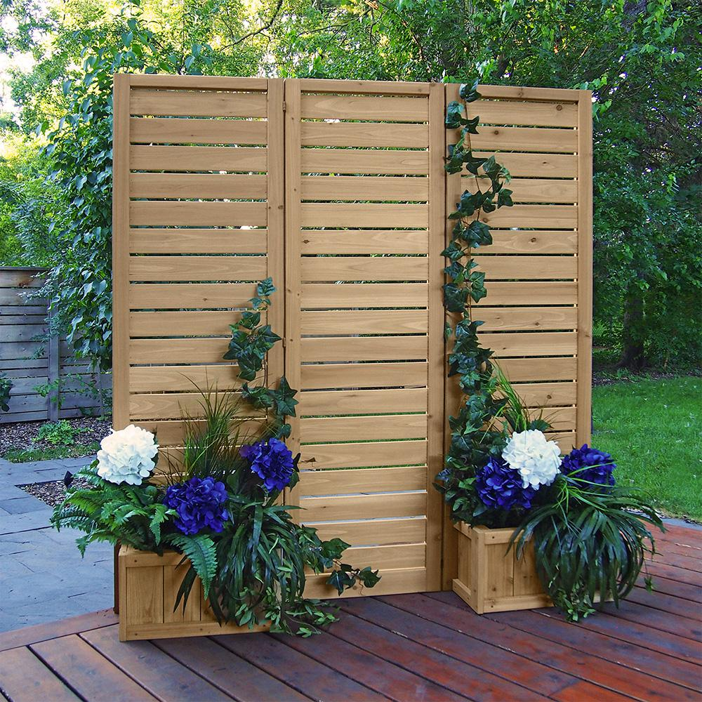 Yardistry 5' x 5' Wood Privacy Screen-YM11703 - The Home Depot