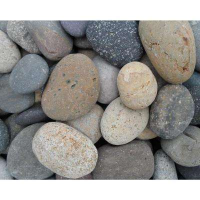1 in. to 2 in. Mixed Mexican Beach Pebble (2200 lb. Contractor Super Sack)