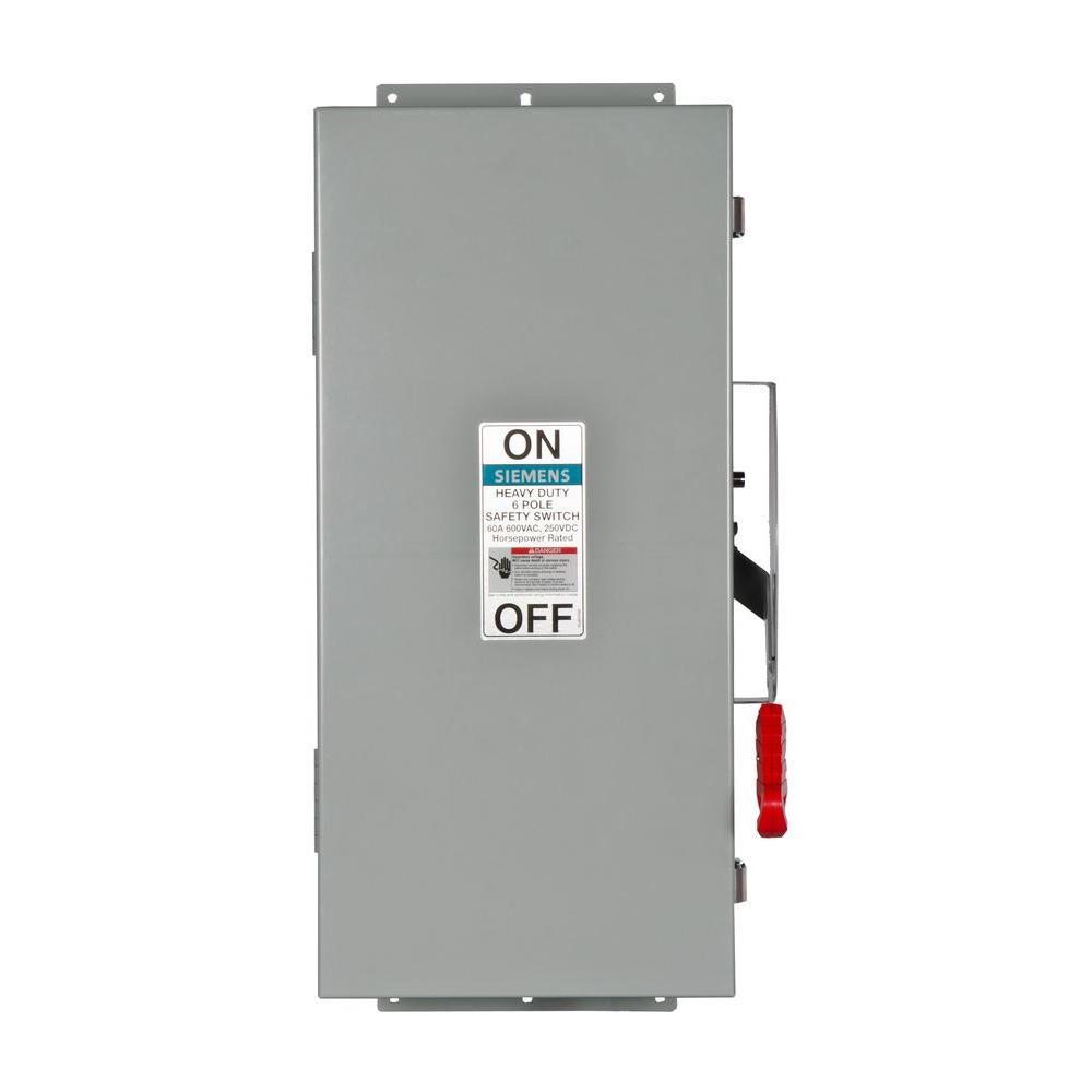 Siemens HNF362H 60-Amp 3 Pole 600-volt Non-Fused Heavy Duty Safety Switches Siemens HI