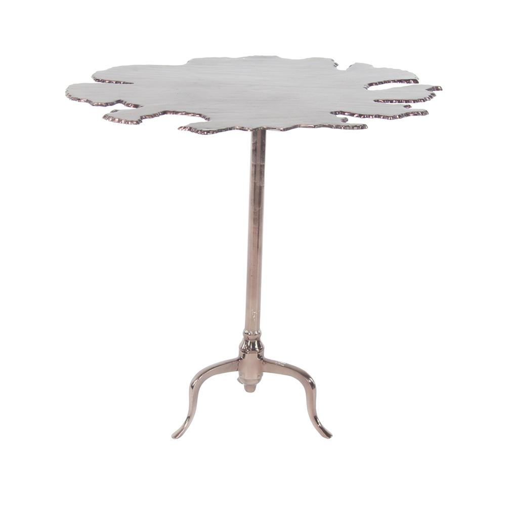 Brown Irregularly Shaped Accent Table