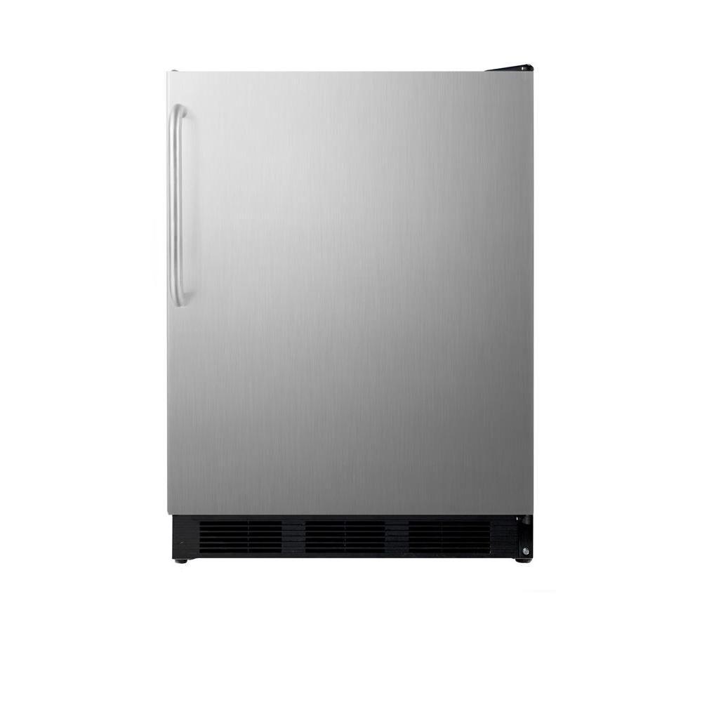 Summit Appliance 5.1 cu. ft. Mini Refrigerator in Stainless Steel