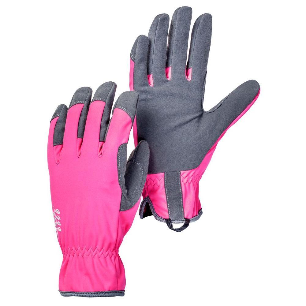 Large Size 9 Pink/Grey Gardening Gloves
