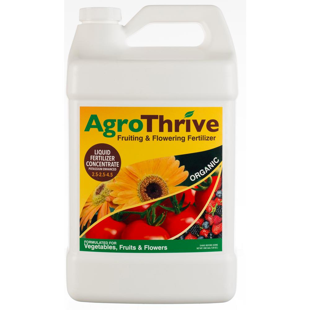 AgroThrive 1 Gal. Fruiting and Flowering Organic Liquid Fertilizer