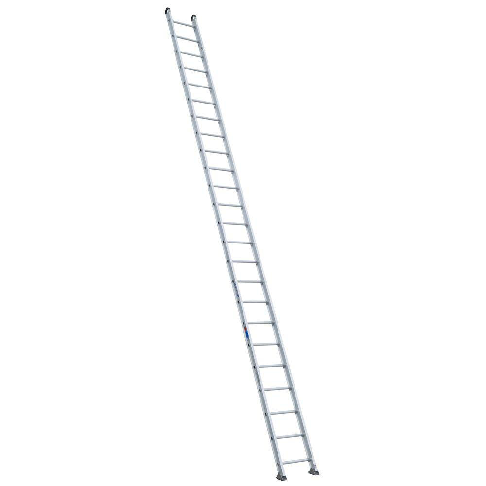 Werner 24 ft. Aluminum Round Rung Straight Ladder with 300 lb. Load Capacity Type IA Duty Rating