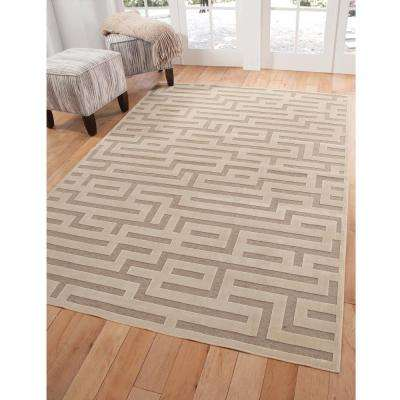 Napa Maze Ivory 5 ft. 3 in. x 7 ft. 6 in. Area Rug