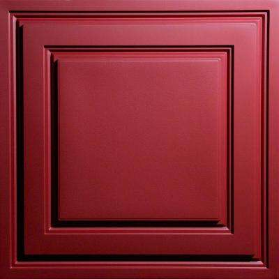 Oxford Merlot 2 ft. x 2 ft. Lay-in Ceiling Panel (Case of 6)