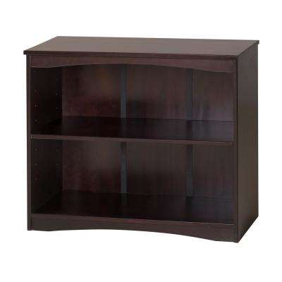 Essentials Cappuccino 36 in. W Wooden Bookcase