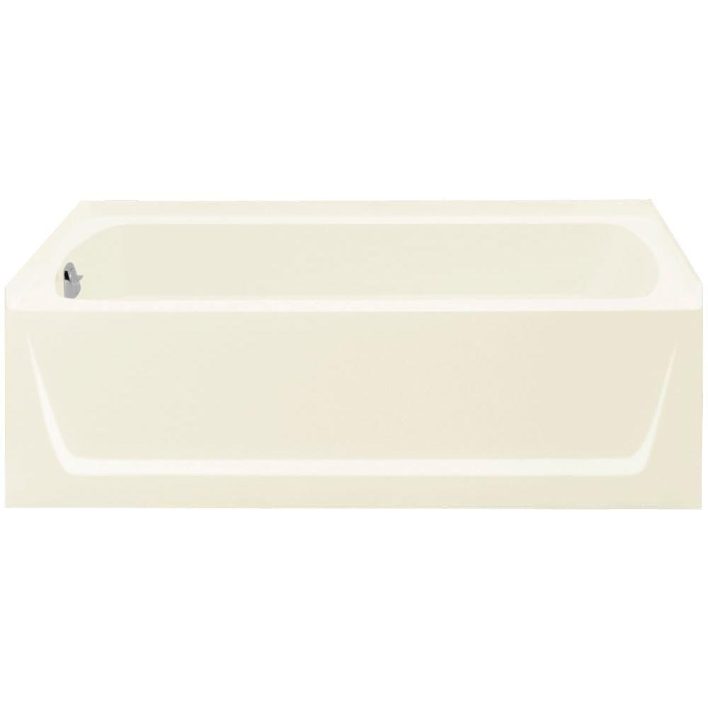Sterling Ensemble 5 Ft Left Drain Bathtub In Biscuit