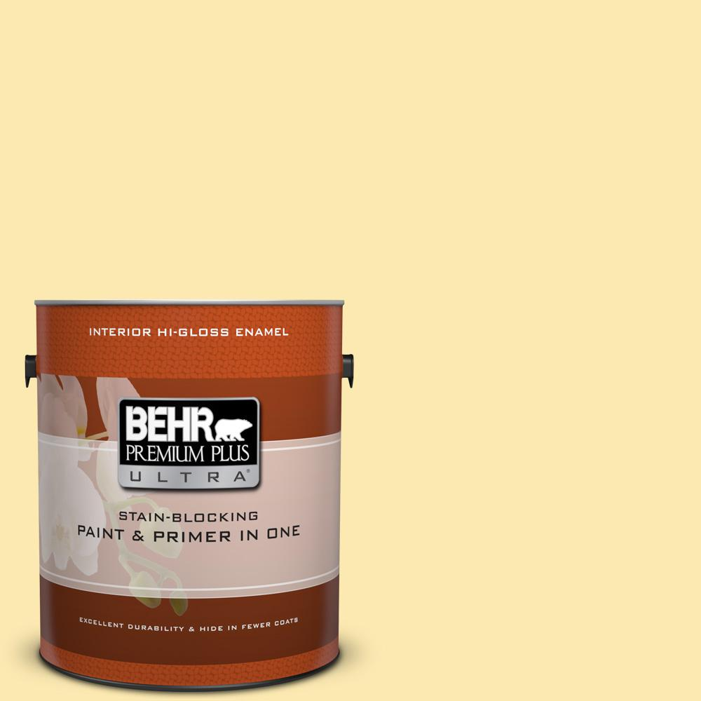 1 gal. #330A-3 Lively Yellow Hi-Gloss Enamel Interior Paint