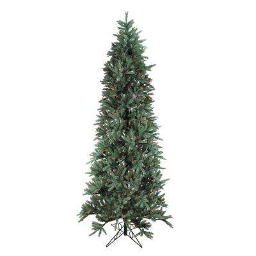 9 ft. Slim Fresh Cut Carolina Frasier Artificial Christmas Tree Multi Pre-Lit