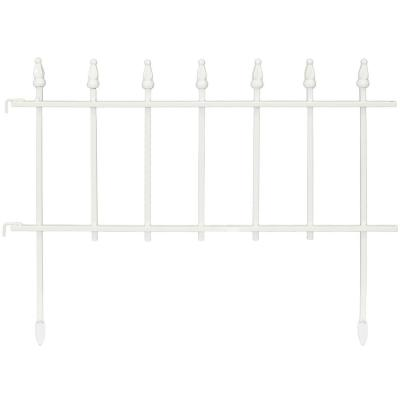 Decorative Outdoor Picket Fence White  from images.homedepot-static.com