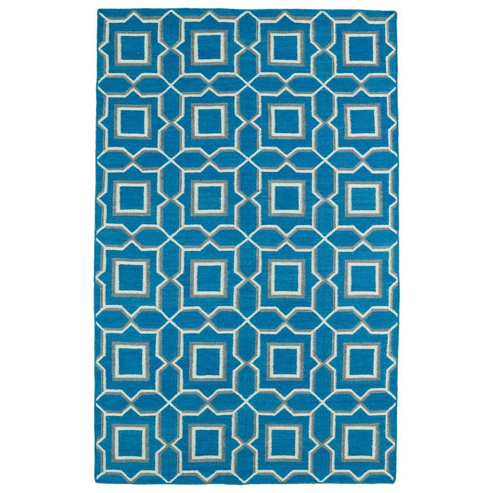 Glam Teal 9 ft. x 12 ft. Area Rug