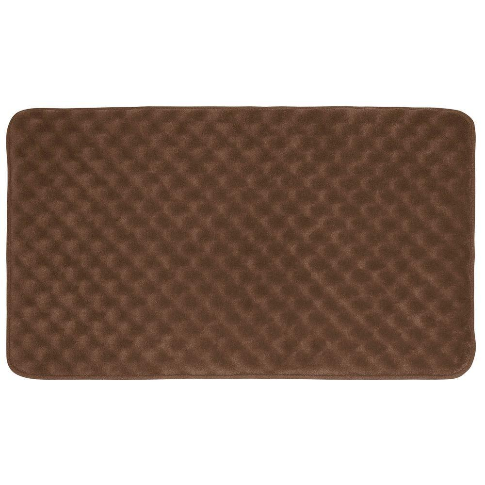 Massage Mocha 20 in. x 32 in. Memory Foam Bath Mat