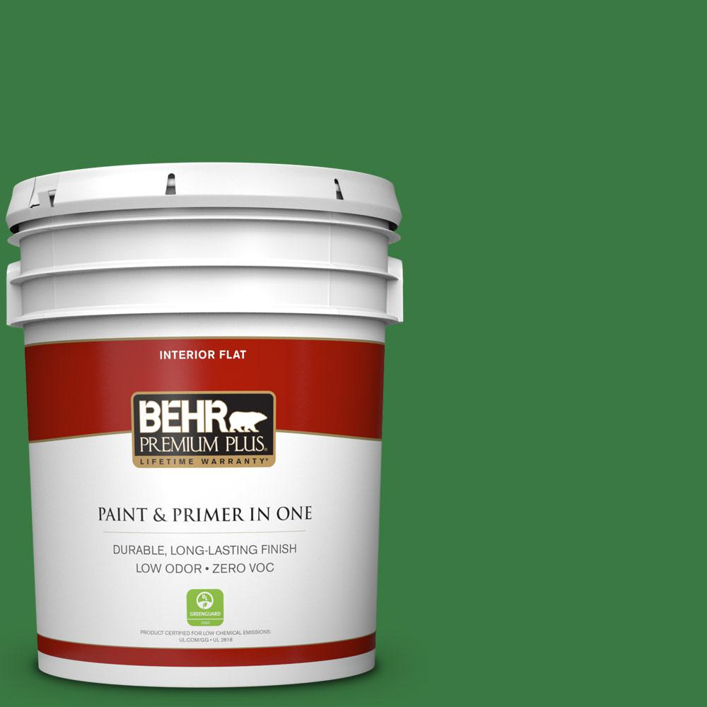 5 gal. #M390-7 Hills of Ireland Zero VOC Flat Interior Paint