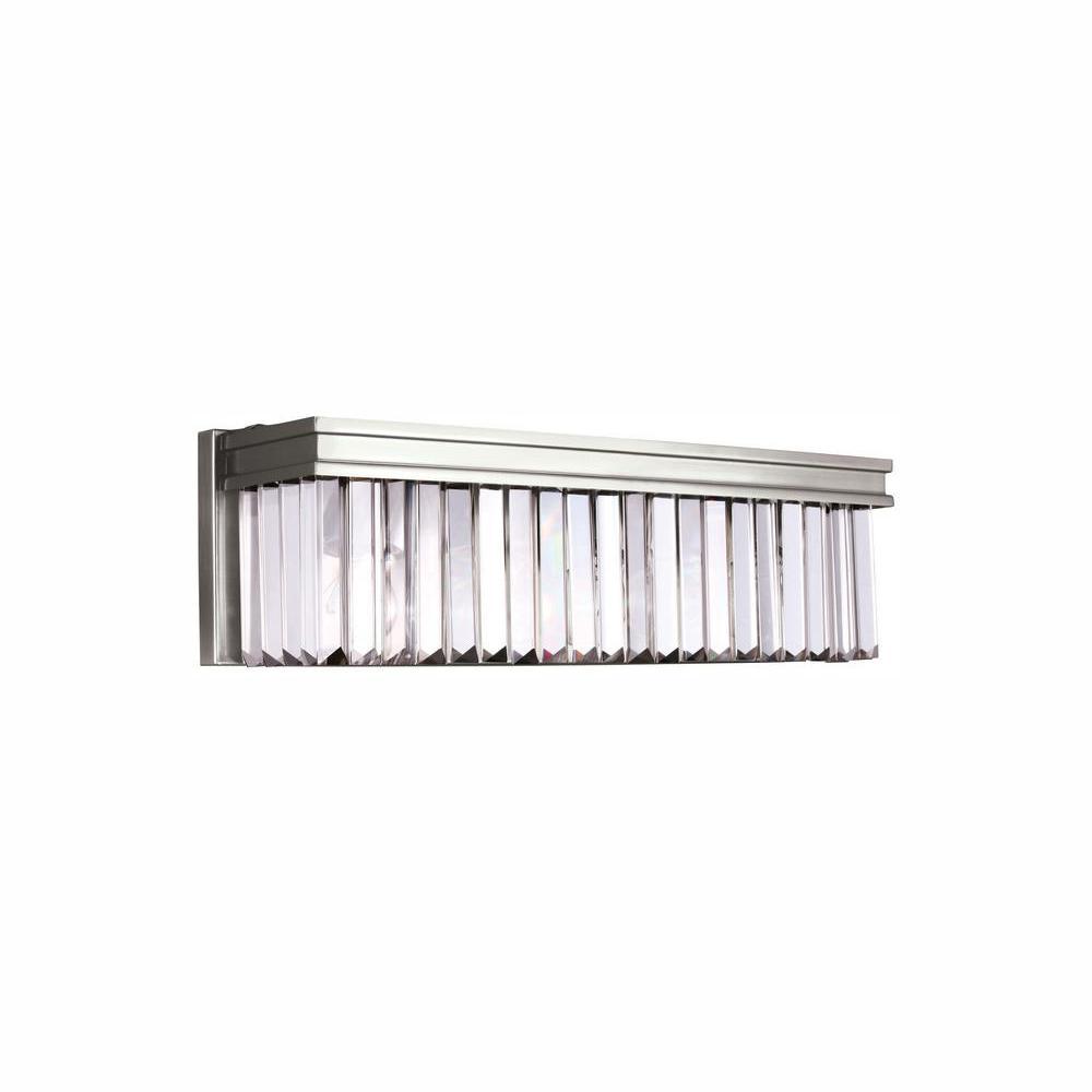 Carondelet 3-Light Brushed Nickel Bath Light with LED Bulbs