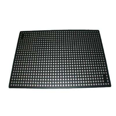 K-Series Comfort Tract Black 3 ft. x 5 ft. x 1/2 in. Grease-Resistant Rubber Kitchen Mat