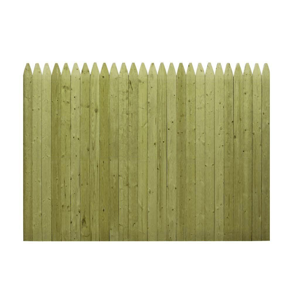6 ft. H x 8 ft. W Pressure-Treated 4 in. Moulded