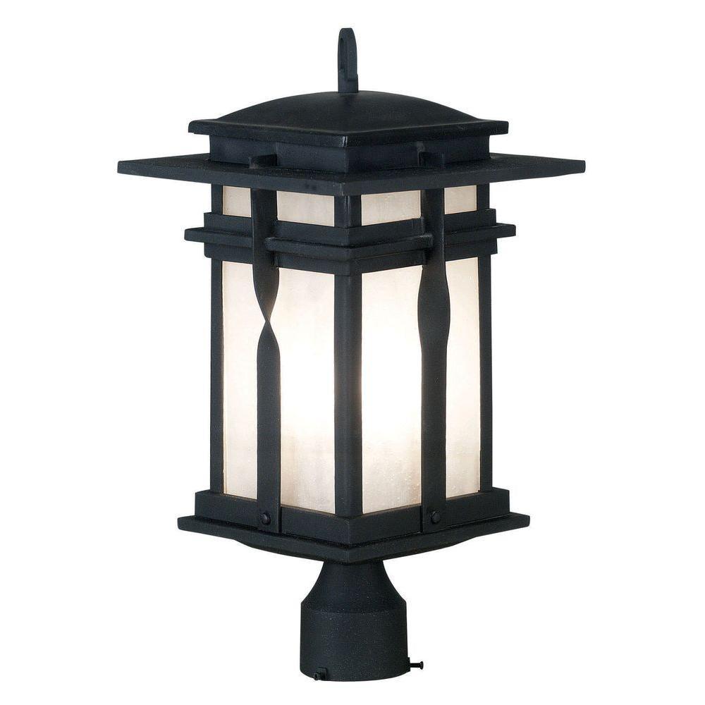 Kenroy Home Carrington 20 in. Black Post Lantern