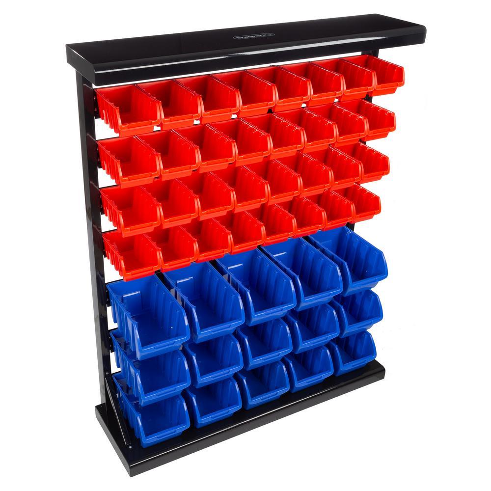 47-Compartment Small Parts Organizer Rack