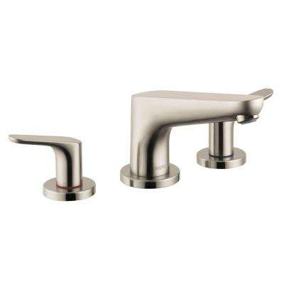 Focus 2-Handle Deck-Mount Roman Tub Faucet in Brushed Nickel