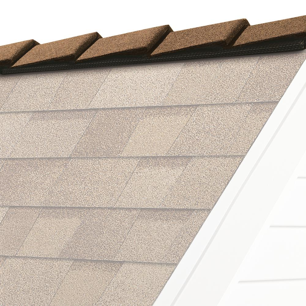 DecoRidge 8 in. Desert Tan Hip and Ridge Asphalt Roofing Shingles