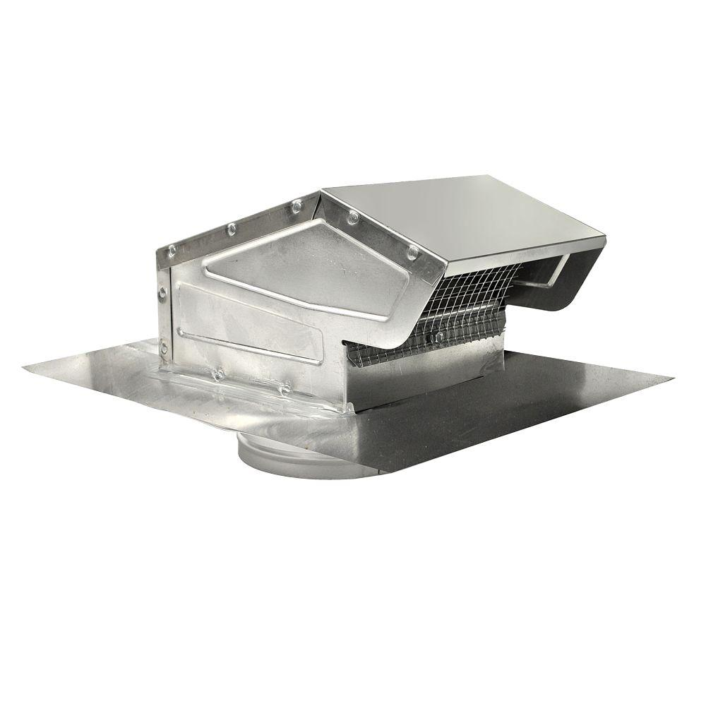4 in. Goose Neck Vent - Roof Cap in Aluminum-GNV4A - The Home Depot for Roof Kitchen Exhaust Fan  183qdu
