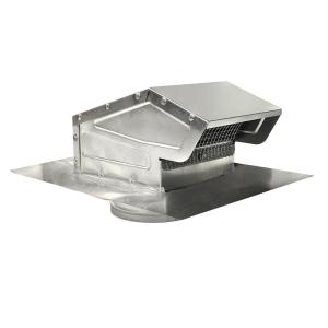 4 in. Goose Neck Vent - Roof Cap in Aluminum-GNV4A - The ...