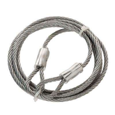 3/16 in. x 6 ft. Galvanized Steel Plated Security Cable Wire Rope